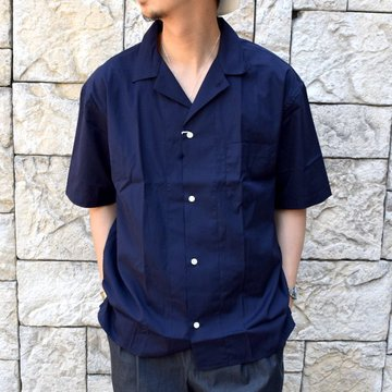 【2020 SS】 EEL products(イ—ルプロダクツ)/ 花火シャツ -(27)NAVY- #E-20401A