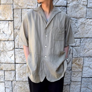 【30% off sale】【2020】KAPTAIN SUNSHINE (キャプテンサンシャイン)/ RIVIERA S/S SHIRT -KHAKI- #KS20SSH04