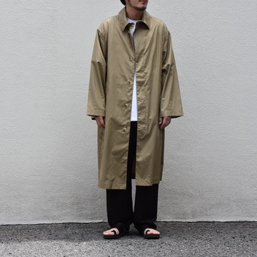 【2020 SS】 Cristaseya(クリスタセヤ)/ OVERSIZED LIGHT COTTON SUMMER TRENCH -Light khaki- #01DA-C-LK