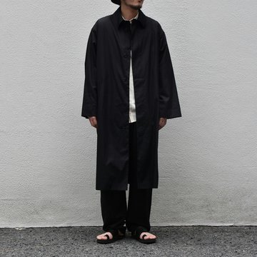【2020 SS】 Cristaseya(クリスタセヤ)/ OVERSIZED LIGHT COTTON SUMMER TRENCH -Black- #01DA-C-LK