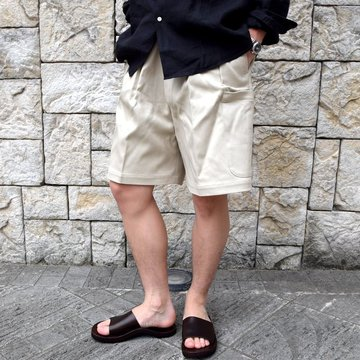 【2020 SS】NEAT(ニート)/ COTTON PIQUE CARGO SHORTS -IVORY- #20-01CPC