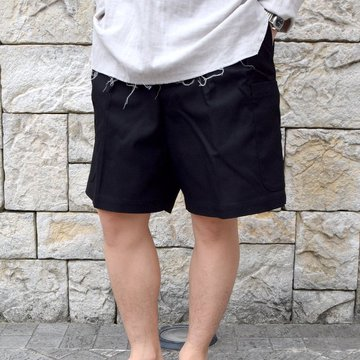 【2020 SS】NEAT(ニート)/ HOPSACK CARGO SHORTS -BLACK- #20-01HSC
