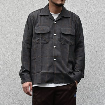 NEEDLES(ニードルス) C.O.B Classic Shirt -C/Pe/R Plaid Twill-GRAY #HM206