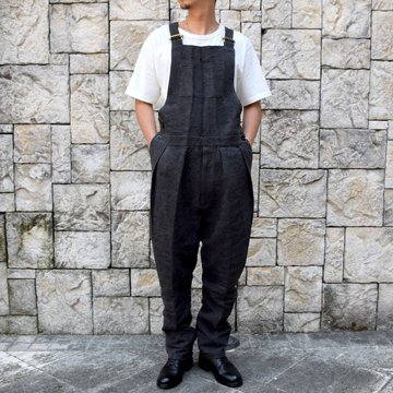 【2020】NEAT(ニート)/ High Density Linen&Japanese Paper ''OVERALL'' -BLACK- #20-02LPS