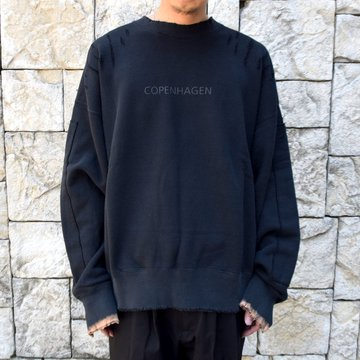 【2020】stein(シュタイン)/ OVERSIZED REBUILD SWEAT LS -BLACK- #ST189