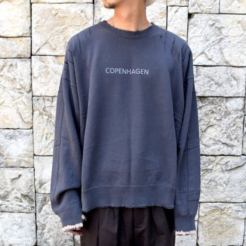 【2020】stein(シュタイン)/ OVERSIZED REBUILD SWEAT LS -CHARCOAL- #ST189