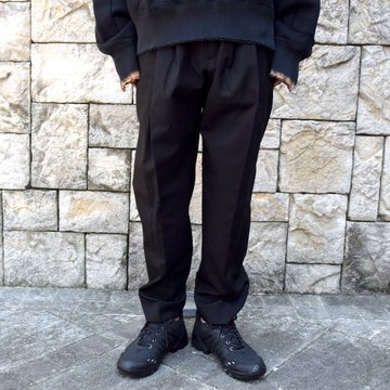 stein(シュタイン)/ WIDE TAPERED TROUSERS -BLACK- #ST178-1