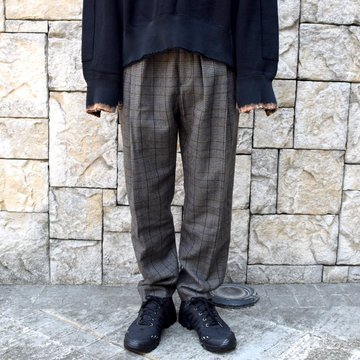 【2020】stein(シュタイン)/ WIDE TAPERED TROUSERS -GLEN CHECK- #ST178-2