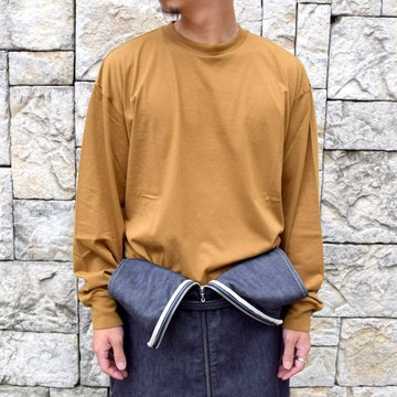 【2020】blurhms ROOTSTOCK(ブラームス) / SILK COTTON JERSEY L/S LOOSE FIT -CAMEL- #ROOTS-F206