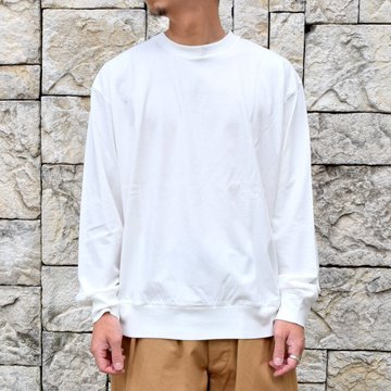 blurhms ROOTSTOCK(ブラームス) / SILK COTTON JERSEY L/S LOOSE FIT -OFF- #ROOTS-F206