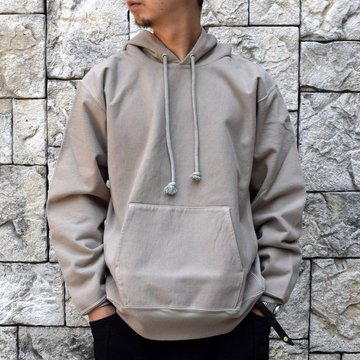 【2020】AURALEE(オーラリー)SUPER MILLED SWEAT P/O PARKA -KHAKI GRAY- #A20AP01SM