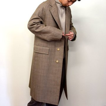 【2020】 AURALEE(オーラリー)/ BLUEFACED WOOL DOUBLE CLOTH CHESTERFIELD COAT -MIX BEIGE- #A20AC01BN