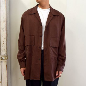【2020】YOKE(ヨーク)/ BIG FLAP LONG SHIRTS -BRICK BROWN- #YK20AW0144SH