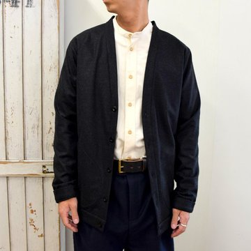 FRANK LEDER(フランクリーダー)/ LIGHT WEIGHT LODEN WOOL CARDIGAN -BLACK- #0127018