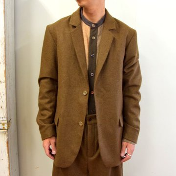 【2020】FRANK LEDER(フランクリーダー)/ LIGHT WEIGHT LODEN WOOL 2B JACKET -BROWN- #0122022