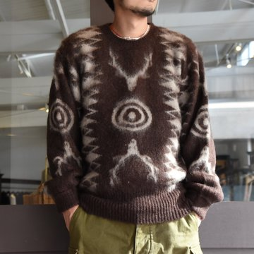 South2 West8(サウスツーウエストエイト) Loose Fit Knit-BROWN- #HM906