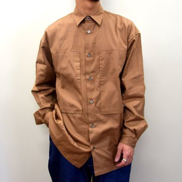 E. TAUTZ(イートウツ)/ LINEMAN SHIRT -BROWN- #6311802001