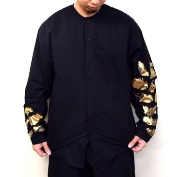toogood(トゥーグッド)/ THE BLACKSMITH SHIRT HAND-PAINTED LEAF -FLINT- #62052000