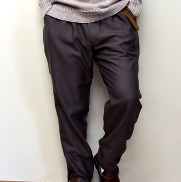 HOMELESS TAILOR(ホームレステイラー)/ HIP GUSSET PANTS -BROWN- #HTK-20F-010