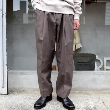 AURALEE(オーラリー)/ BLUEFACED WOOL WIDE SLACKS -TOP BROWN- #A20AP03BH