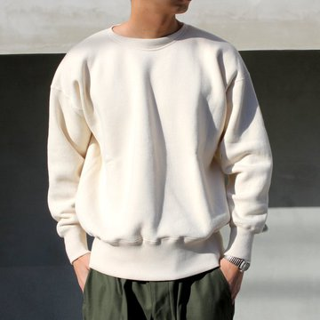 OLDE HOMESTEADER(オールドホームステッダー)/ CREW NECK LONG SLEEVE -ECRU- #EQP001