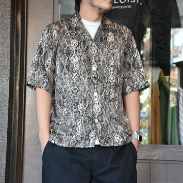 [2021]NEEDLES(ニードルス) CABANA SHIRT PYTHON PT -BLACK- #IN169