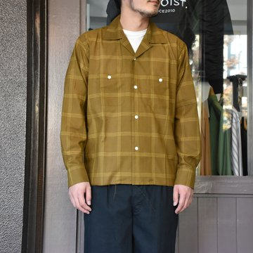 [2021]NEEDLES(ニードルス) C.O.B. ONE-UP SHIRT C/S PLAID -BROWN-#IN170