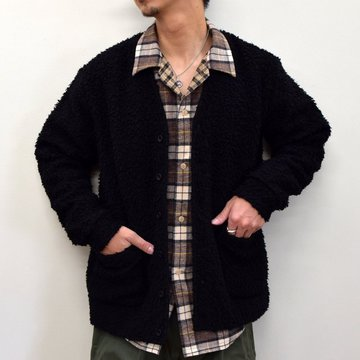 A VONTADE(ア ボンタージ)/ WOOL BOA V-NECK CARDIGAN -BLACK- #VTD-0540-CS
