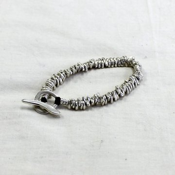 JILL PLATNER(ジル プラットナー)/ BIRD BONE BRACELET -BLACK- #B-0081
