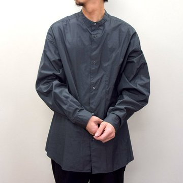 Graphpaper (グラフペーパー)/ BROAD OVERSIZED L/S BAND COLLAR SHIRT -CHARCOAL- #GM211-50111B-GR