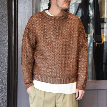 [2021]amachi.(アマチ) Paesina Stone Knit -BROWN- #AY8-27