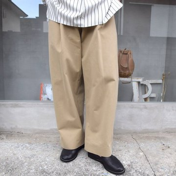 STUDIO NICHOLSON(スタジオニコルソン)/ PEACHED COTTON TWILL -TAN- #SNM-351