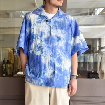 [2021]amachi.(アマチ) Packable Meeting Shirt -Blue Uneven Dye- #AY8-14