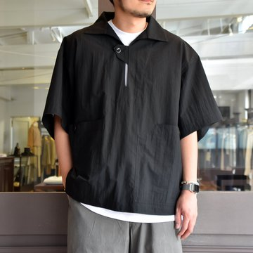 [2021]amachi.(アマチ) Packable Meeting Shirt -Black- #AY8-14