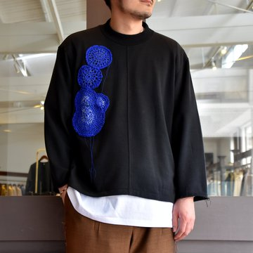 [2021]amachi.(アマチ) Caillois's Agate Sweat-Black- #AY8-15