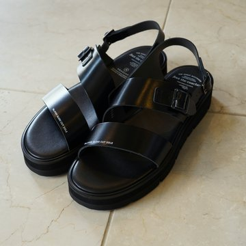 foot the coacher(フットザコーチャー)/SS BELT SANDALS(GLOXI CUT SOLE)-BLACK- #FTC1912012