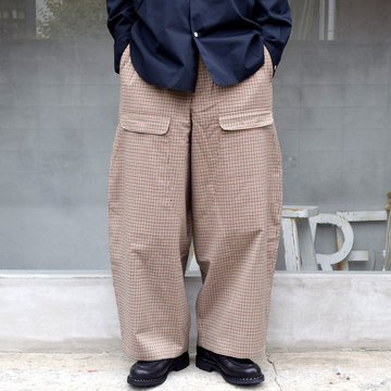CAMIEL FORTGENS(カミエル フォートゲンス)/ RESEARCH DOUBLE PANTS -CHECK- #11.11.04