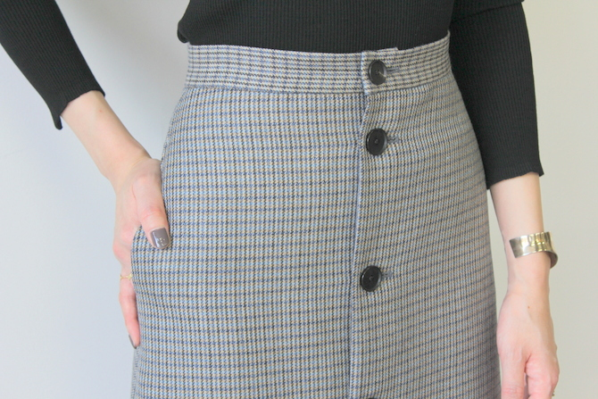 AURALEE(オーラリー) DOUBLE FACE CHECK SKIRT(2色展開)_A9AS04BN【K】(10)