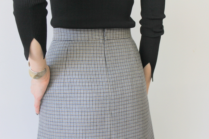 AURALEE(オーラリー) DOUBLE FACE CHECK SKIRT(2色展開)_A9AS04BN【K】(11)