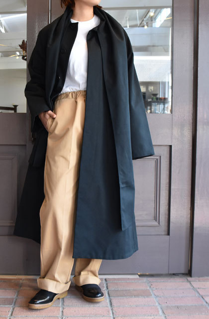 【40% off sale】CristaSeya(クリスタセヤ)  Maxi over coat with scarf (Black)(13)