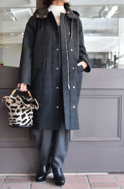 TENNE HANDCRAFTED MODERN(テン ハンドクラフテッドモダン) SUPER 140'S FOODED COCOON COAT(13)