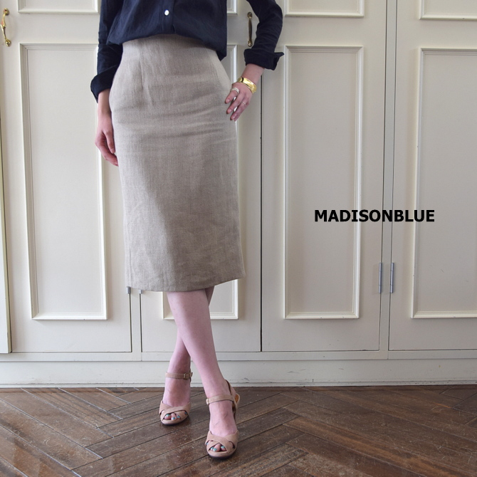 MADISONBLUE(マディソンブルー) HIGH WAIST TIGHT SKIRT LINEN【K】(1)