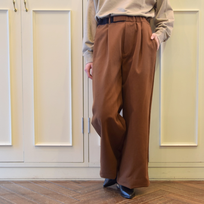 【40%OFF SALE】Graphpaper(グラフペーパー) Cotton Double Cloth Wide Cook(ワイドコックパンツ)【K】(1)