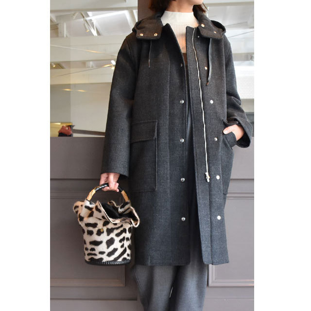 TENNE HANDCRAFTED MODERN(テン ハンドクラフテッドモダン) SUPER 140'S FOODED COCOON COAT(1)