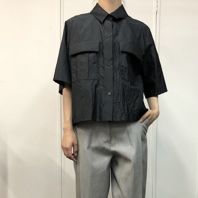 【30% off sale】humoresque(ユーモレスク) pocket shirt(2色展開)【K】(1)