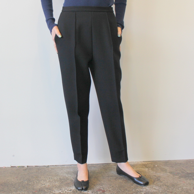 【30%OFF SALE】YLÉVE(イレーヴ) 【19AW】WOOL DOUBLE CLOTH TROUSER_168-9240050【K】(1)