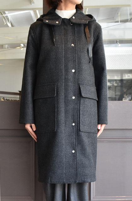 TENNE HANDCRAFTED MODERN(テン ハンドクラフテッドモダン) SUPER 140'S FOODED COCOON COAT(2)