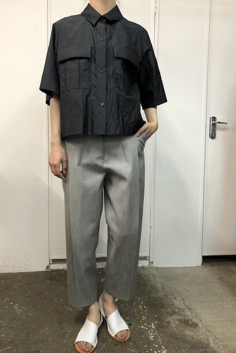 【30% off sale】humoresque(ユーモレスク) pocket shirt(2色展開)【K】(2)