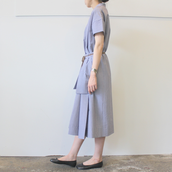 【40%OFF SALE】ÉCOLE DE CURIOSITÉS(エコールドキュリオジテ)COTTON SEERSUCKER DRESS_DAISY【K】(2)