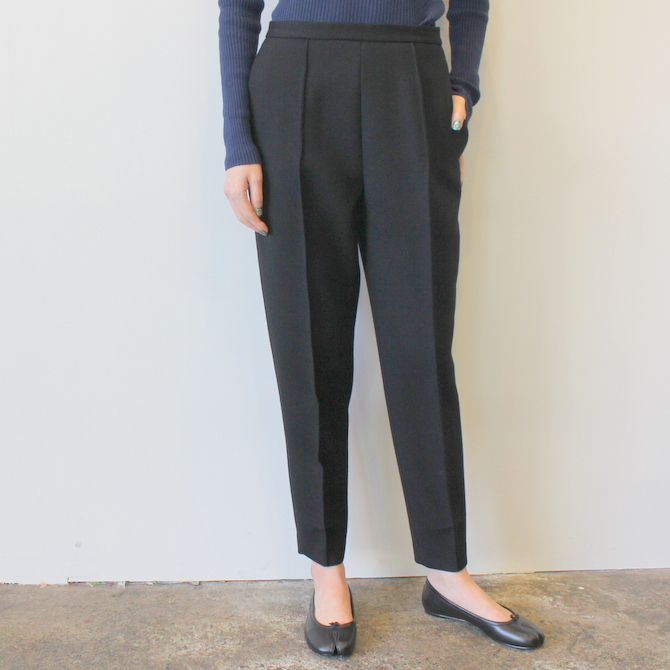 【30%OFF SALE】YLÉVE(イレーヴ) 【19AW】WOOL DOUBLE CLOTH TROUSER_168-9240050【K】(2)